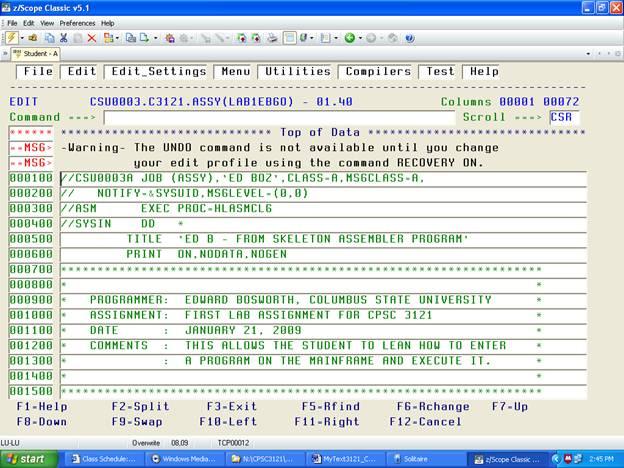 Chapter 2 – Structure of an IBM Mainframe Assembler Language